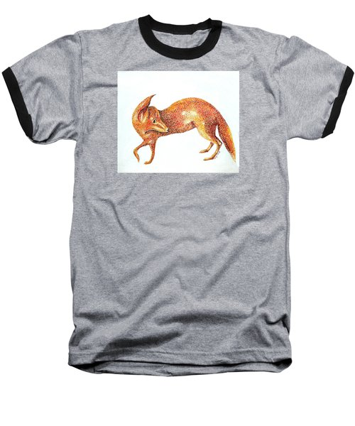 Fox Trot Baseball T-Shirt by Tamyra Crossley