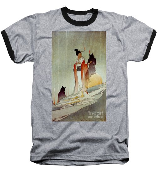 Baseball T-Shirt featuring the photograph Fox Woman 1912 by Padre Art
