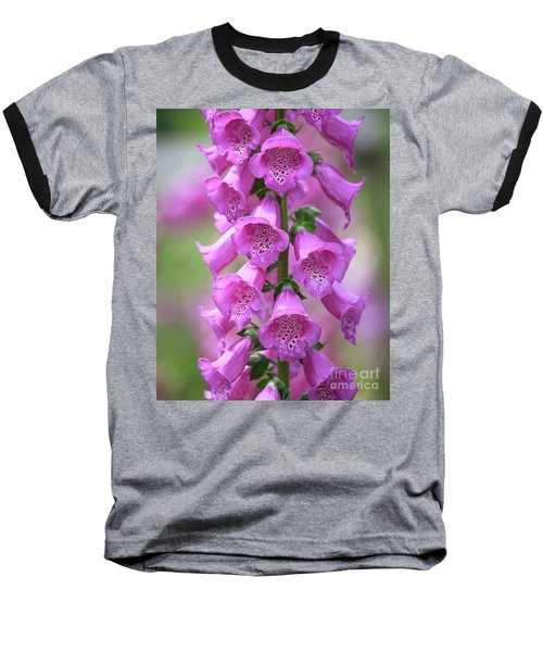 Baseball T-Shirt featuring the photograph Foxglove Flowers by Edward Fielding