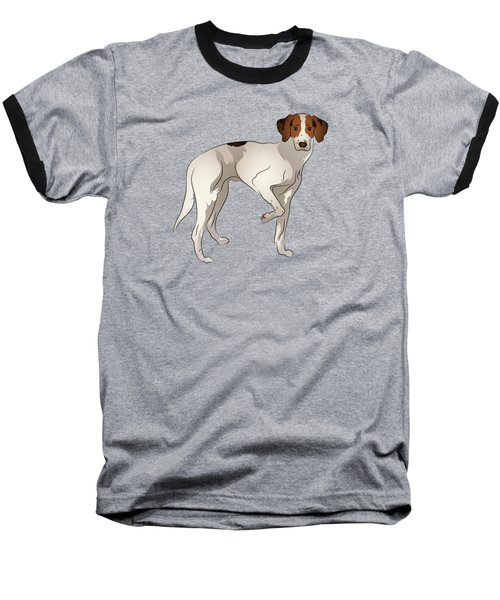 Foxhound Baseball T-Shirt by MM Anderson