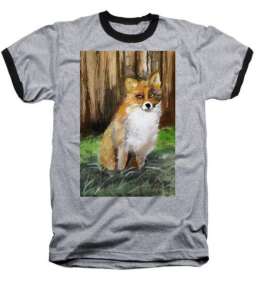 Foxy Lady Baseball T-Shirt by Carole Robins