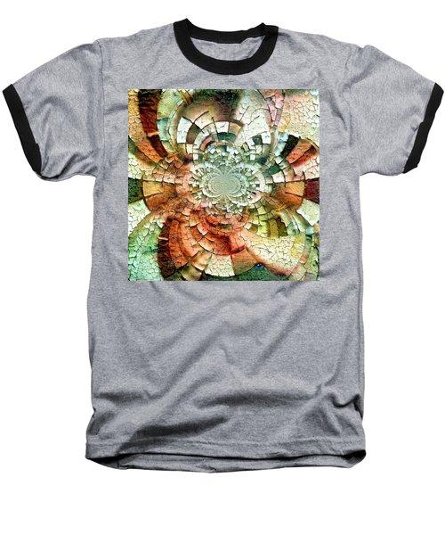 Fractal Abstract Baseball T-Shirt