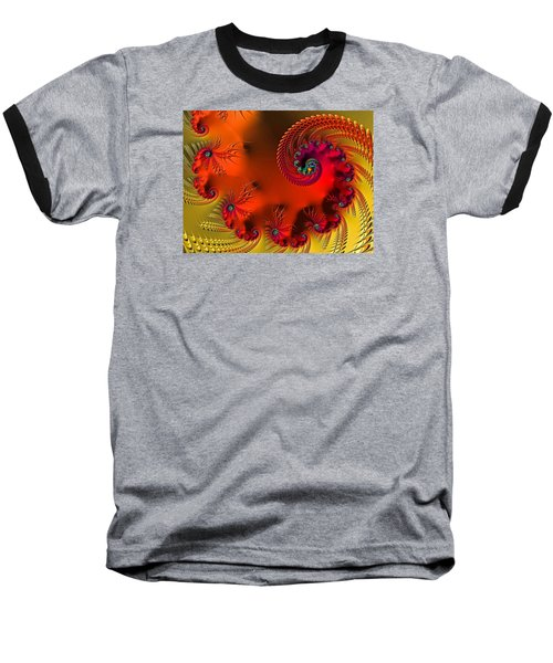 Fractal Art - Breath Of The Dragon Baseball T-Shirt by HH Photography of Florida