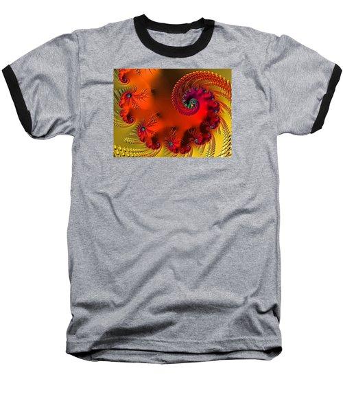 Fractal Art - Breath Of The Dragon Baseball T-Shirt