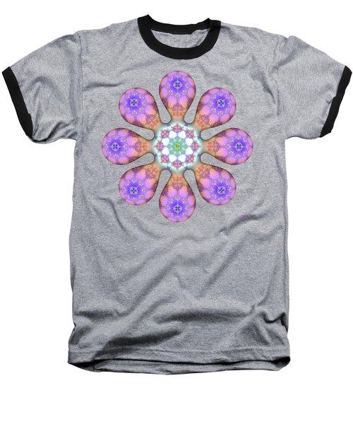 Fractal Blossom 2 Baseball T-Shirt