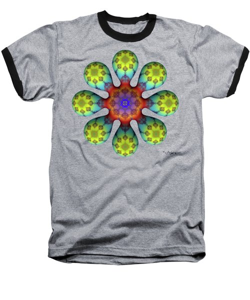 Fractal Blossom 4 Baseball T-Shirt