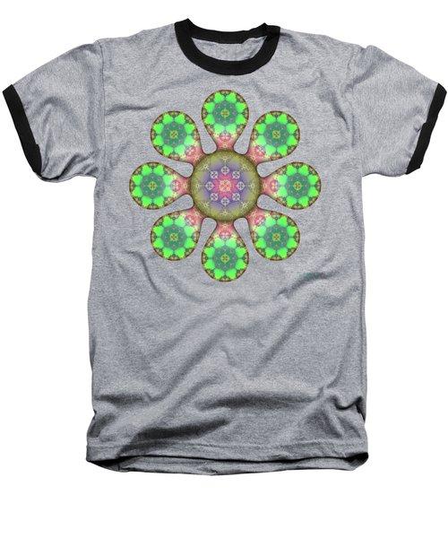 Fractal Blossom 5 Baseball T-Shirt