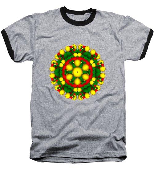 Fractal Christmas Wreath I Baseball T-Shirt