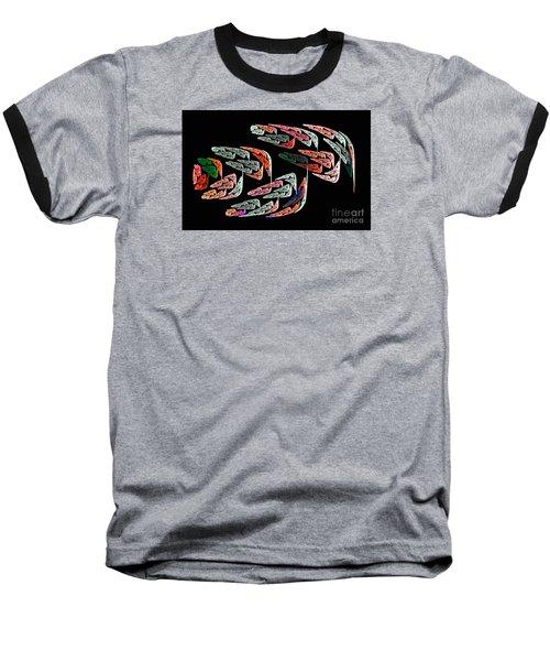 Fractal Crochet On The Computer Baseball T-Shirt