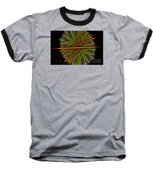Fractal Feathers Baseball T-Shirt