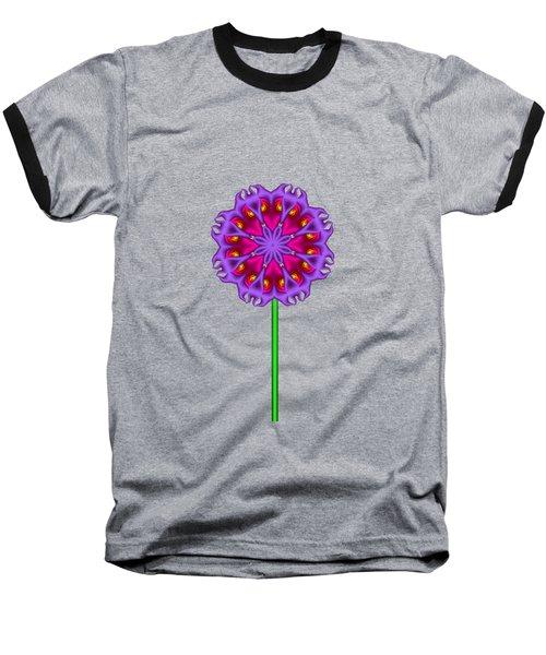 Fractal Flower Garden Flower 01 Baseball T-Shirt