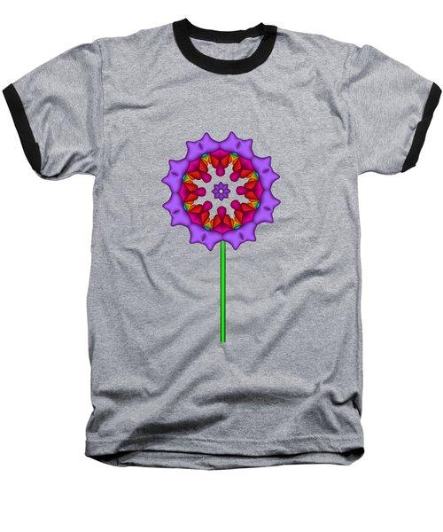 Fractal Flower Garden Flower 02 Baseball T-Shirt