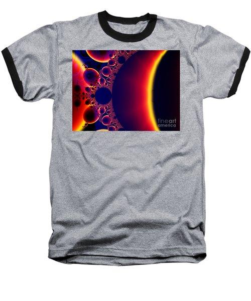 Fractal Galaxy Sunset  Baseball T-Shirt