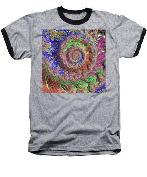Baseball T-Shirt featuring the digital art Fractal Garden by Bonnie Bruno