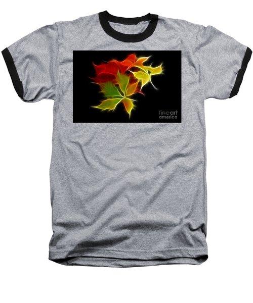 Fractal Leaves Baseball T-Shirt