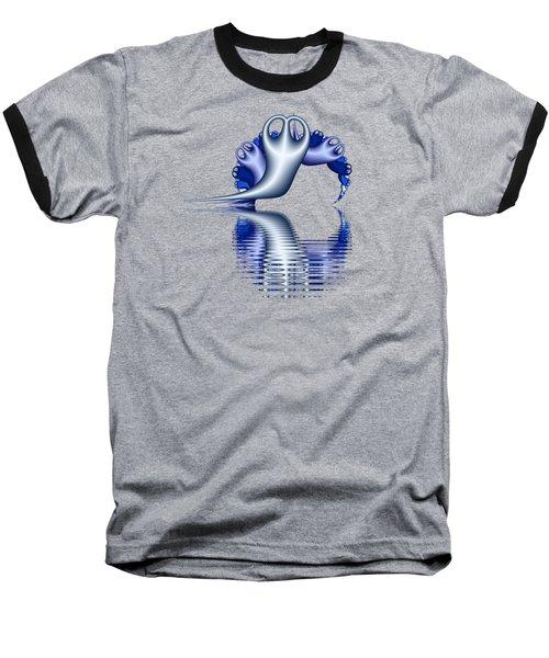 Fractal Peeble Ghosts Baseball T-Shirt