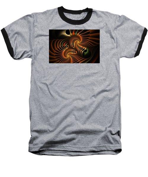 Fractal Spirochete Baseball T-Shirt