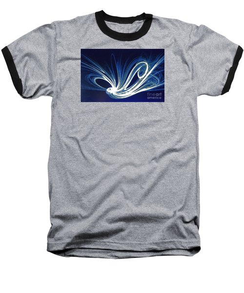 Baseball T-Shirt featuring the photograph Fractal Wonder In Blue And White by Merton Allen