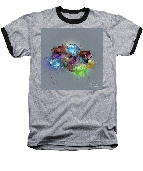 Baseball T-Shirt featuring the digital art Fractured Bouqet 1 Pc by John Krakora