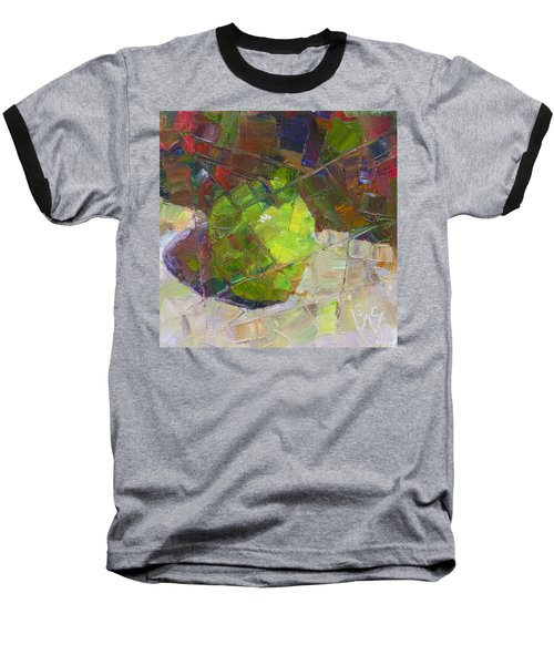 Fractured Granny Smith Baseball T-Shirt by Susan Woodward