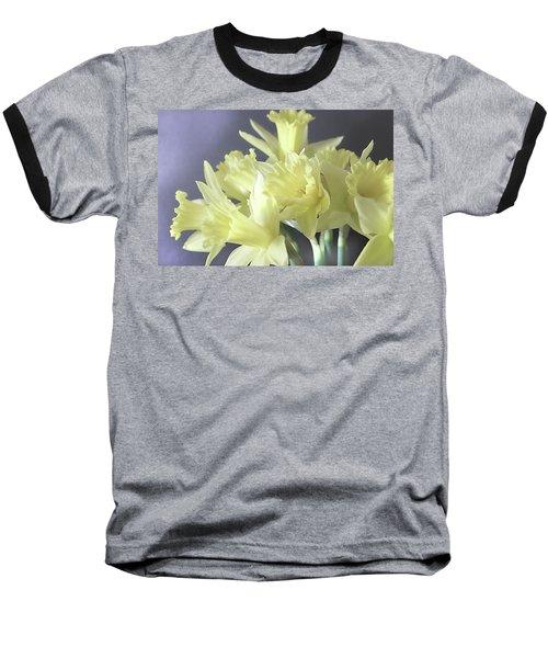 Fragile Daffodils Baseball T-Shirt