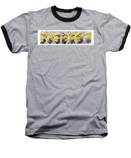 Fragmented And Still In Awe Congratulations Minions Baseball T-Shirt by Catherine Lott