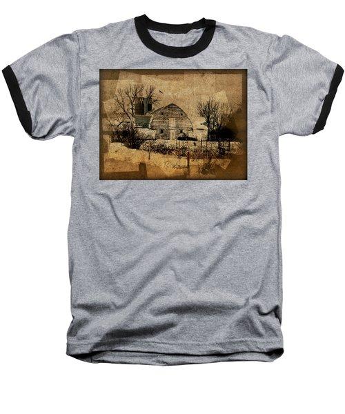 Fragmented Barn  Baseball T-Shirt