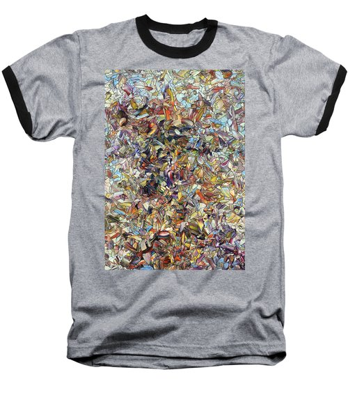 Baseball T-Shirt featuring the painting Fragmented Horse by James W Johnson