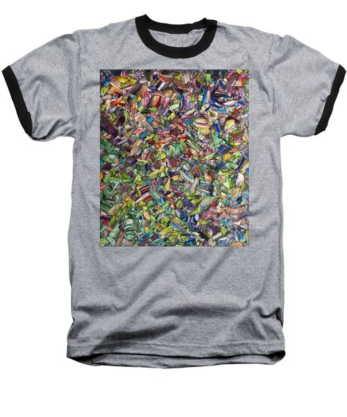 Baseball T-Shirt featuring the painting Fragmented Spring by James W Johnson