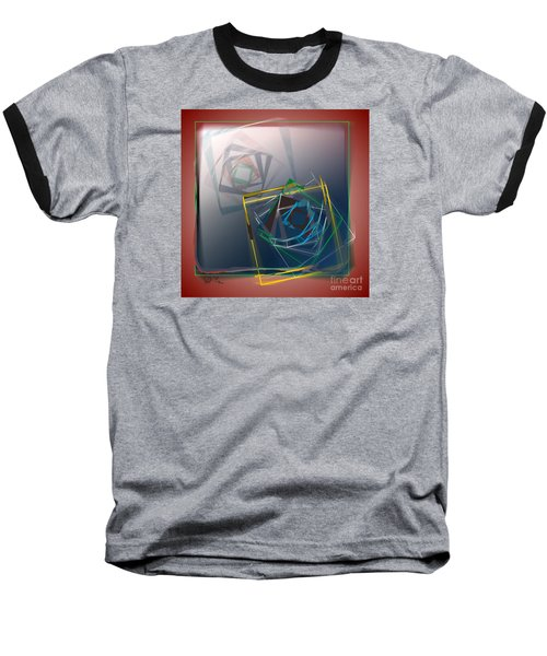 Baseball T-Shirt featuring the digital art Fragments Of Movement by Leo Symon