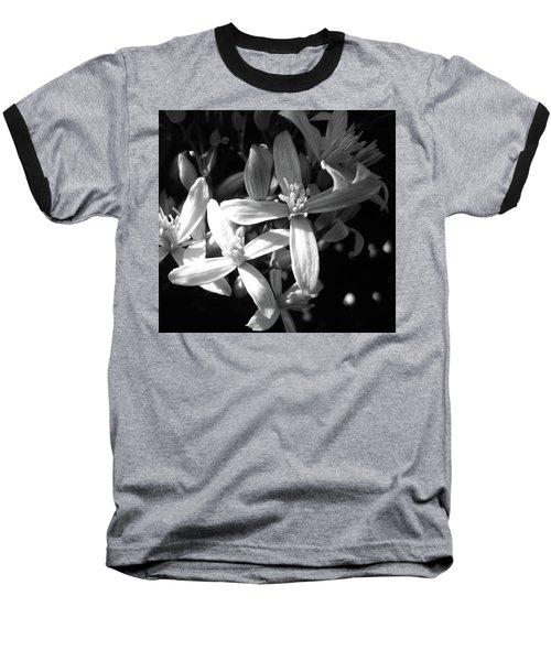 Fragrance Baseball T-Shirt by Mary Ellen Frazee