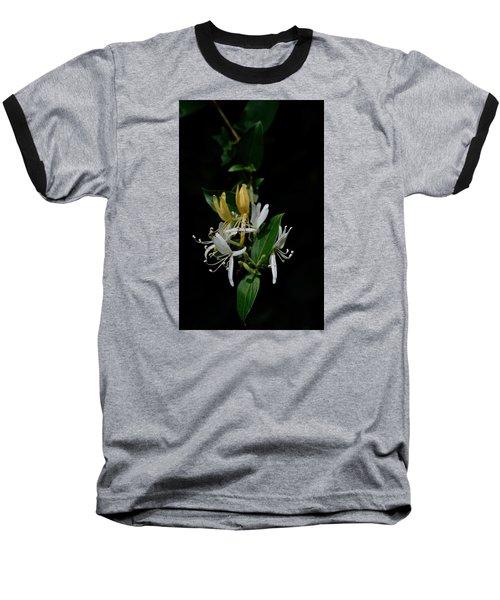 Fragrant Honeysuckle Baseball T-Shirt by Karen Harrison