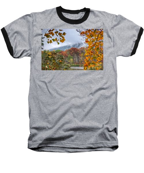 Framed By Fall Baseball T-Shirt by Kerri Farley