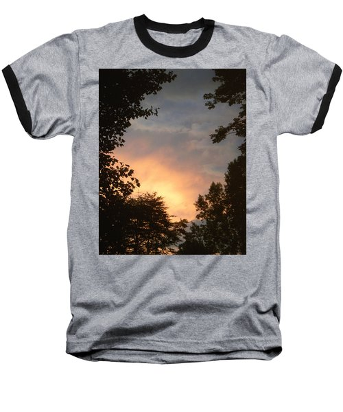 Baseball T-Shirt featuring the photograph Framed Fire In The Sky by Sandi OReilly