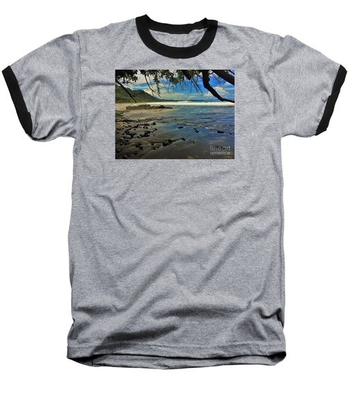 Baseball T-Shirt featuring the photograph Framing The Tide by Pamela Blizzard