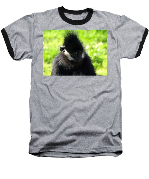 Francois Langur Baseball T-Shirt by Lisa L Silva