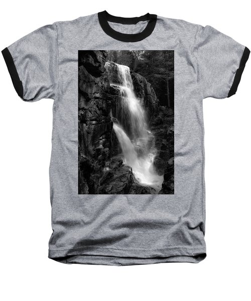 Franconia Notch Waterfall Baseball T-Shirt