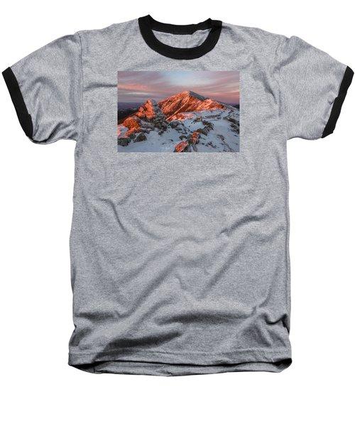 Franconia Ridge Alpenglow Baseball T-Shirt