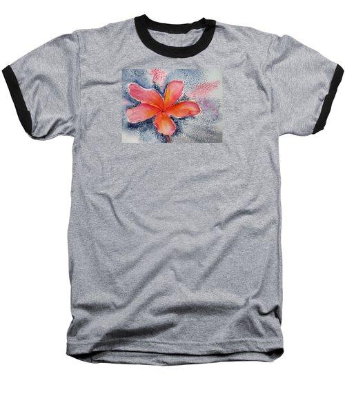 Frangipani Blue Baseball T-Shirt by Elvira Ingram