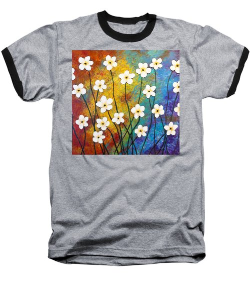 Frangipani Explosion Baseball T-Shirt