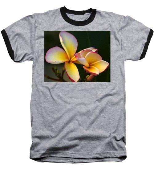 Frangipani Flowers Baseball T-Shirt by Ralph A  Ledergerber-Photography