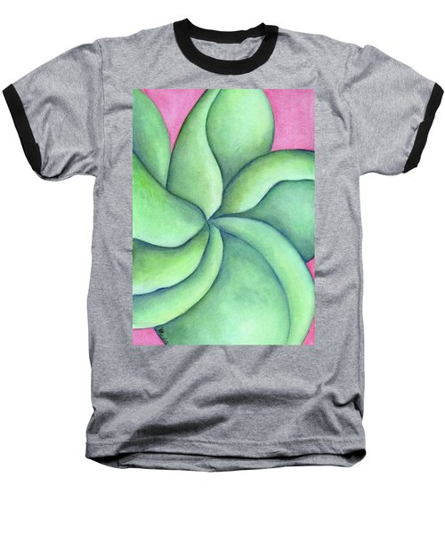 Frangipani Green Baseball T-Shirt