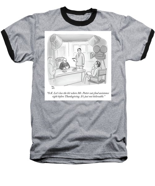 Frank Capra Filming Mr Potter Baseball T-Shirt