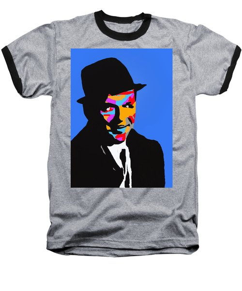Baseball T-Shirt featuring the drawing Frank Feeling Blue by Robert Margetts