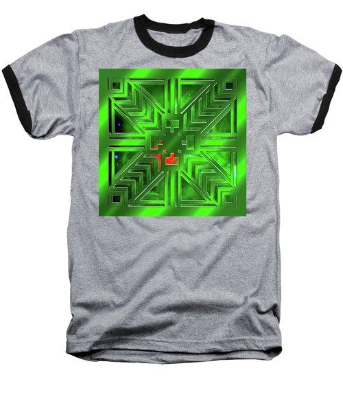 Frank Lloyd Wright Design Baseball T-Shirt