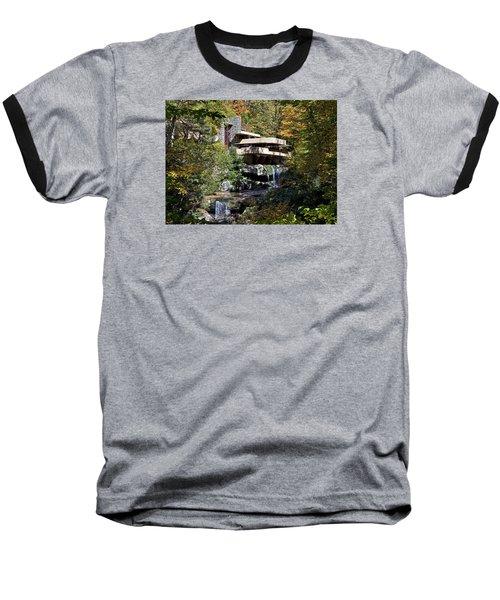 Frank Lloyd Wrights Fallingwater Baseball T-Shirt