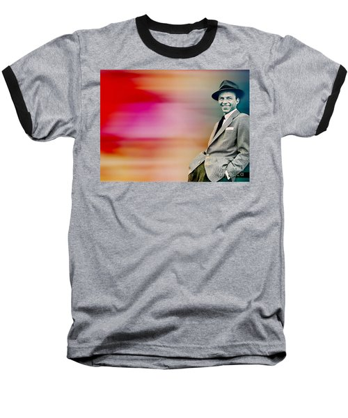 Baseball T-Shirt featuring the digital art Frank Sinatra by Marvin Blaine