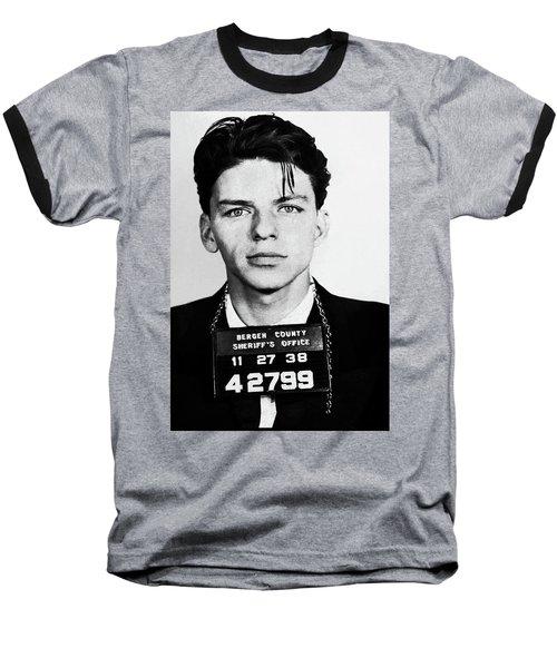 Frank Sinatra Mugshot Baseball T-Shirt
