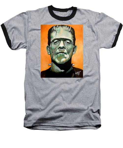 Frankenstein Baseball T-Shirt by Tom Carlton