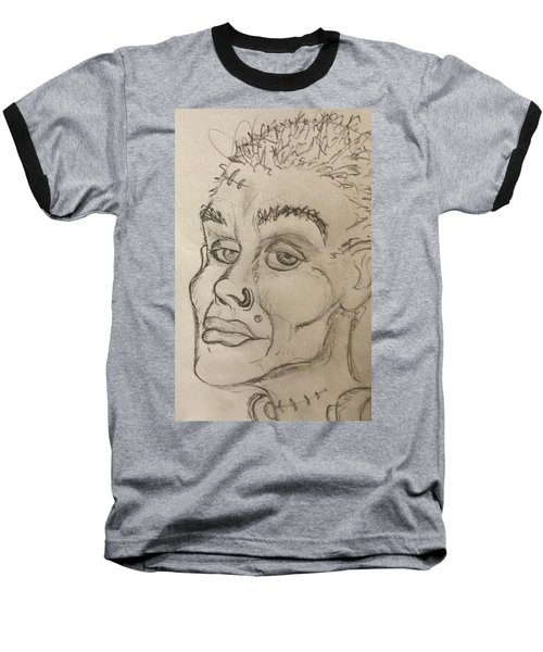 Frankenstein's Neighbor's Roommate's Girlfriend's Sister  Baseball T-Shirt by Yshua The Painter